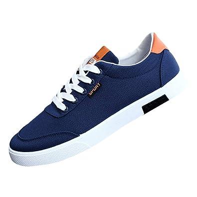 01d0c72b06b6ab Huatime Mode Canvas Schuhe Herren - Low Top Rutschsicher Sneakers Skater  Schuhe Freizeit Espadrilles Classic Gymnastikschuhe