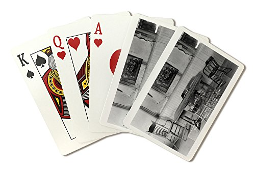 Tombstone, Arizona - Birdcage Theatre Old Faro Table Photograph (Playing Card Deck - 52 Card Poker Size with Jokers)