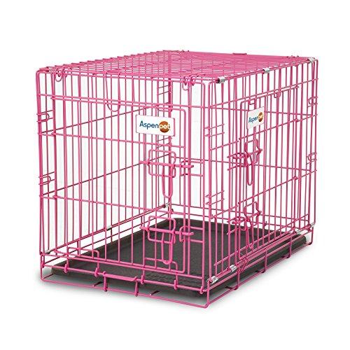 - Aspen Pet Puppy 2-Door Training Retreat Crate, 24