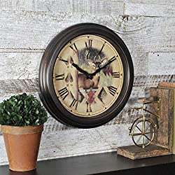 FirsTime & Co. Buck Bronze Wall Clock, 12, Oil Rubbed