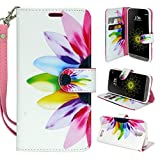 ZTE Grand X 3 Case Customerfirst Magnetic Leather Folio Flip Wallet Pouch With Fold Up Kickstand and Wrist Strap For Grand X 3 /Z959 Smartphone (Cricket) (African Violet)