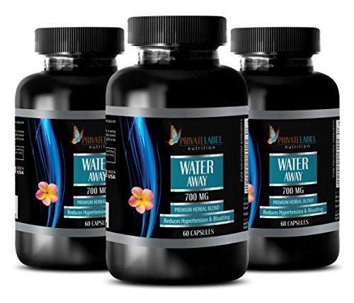 Metabolism Architecture - Water Away - Premium Herbal Blend - Immune System for Men - 3 Bottles (180 Capsules)