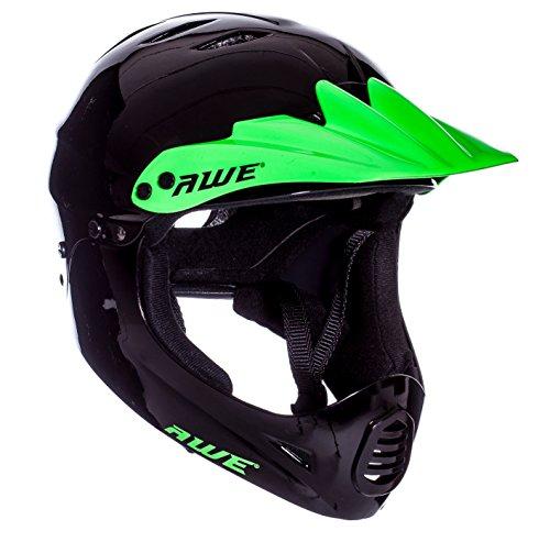 AWE-FREE-5-YEAR-CRASH-REPLACEMENT-Full-Face-Helmet-Black-Green-Large-58-62cm