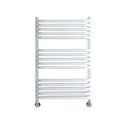 Hudson Reed Radiador de toallas de mano Arch – Baño Radiador de acero en color blanco