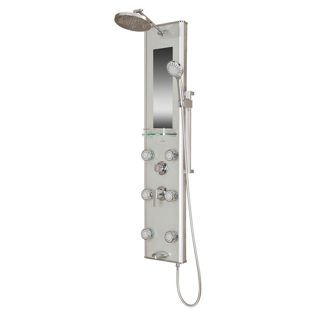 Pulse 1013-GL Kihei II Shower Spa with Silver Glass and Chrome ...