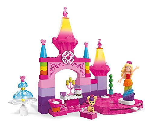 (Mega Construx Barbie Rainbow Princess Castle Building)