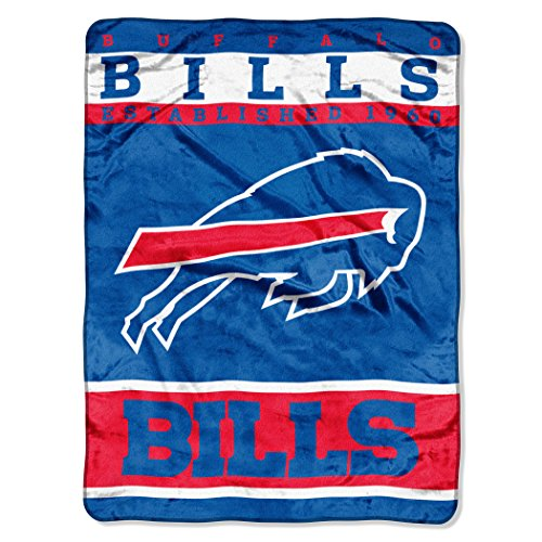 Northwest Nfl Buffalo - The Northwest Company Officially Licensed NFL Buffalo Bills 12th Man Plush Raschel Throw Blanket, 60