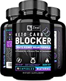 KETO White Kidney Bean Carb Blocker + Forskolin (40 Servings) White Kidney Bean