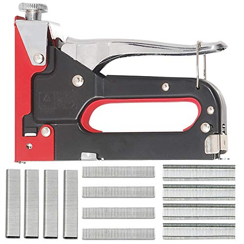 Hi-Spec 2-in-1 Home DIY Steel Staple & Nail Gun Set for Fixing Material, Re-Upholstering Furniture, Decorating, Repairing Decorations, Attaching Fabric to Walls GREAT for Hobby & Craft Projects