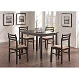 Monarch Specialties Veneer 5-Piece Dining Set, Cappuccino