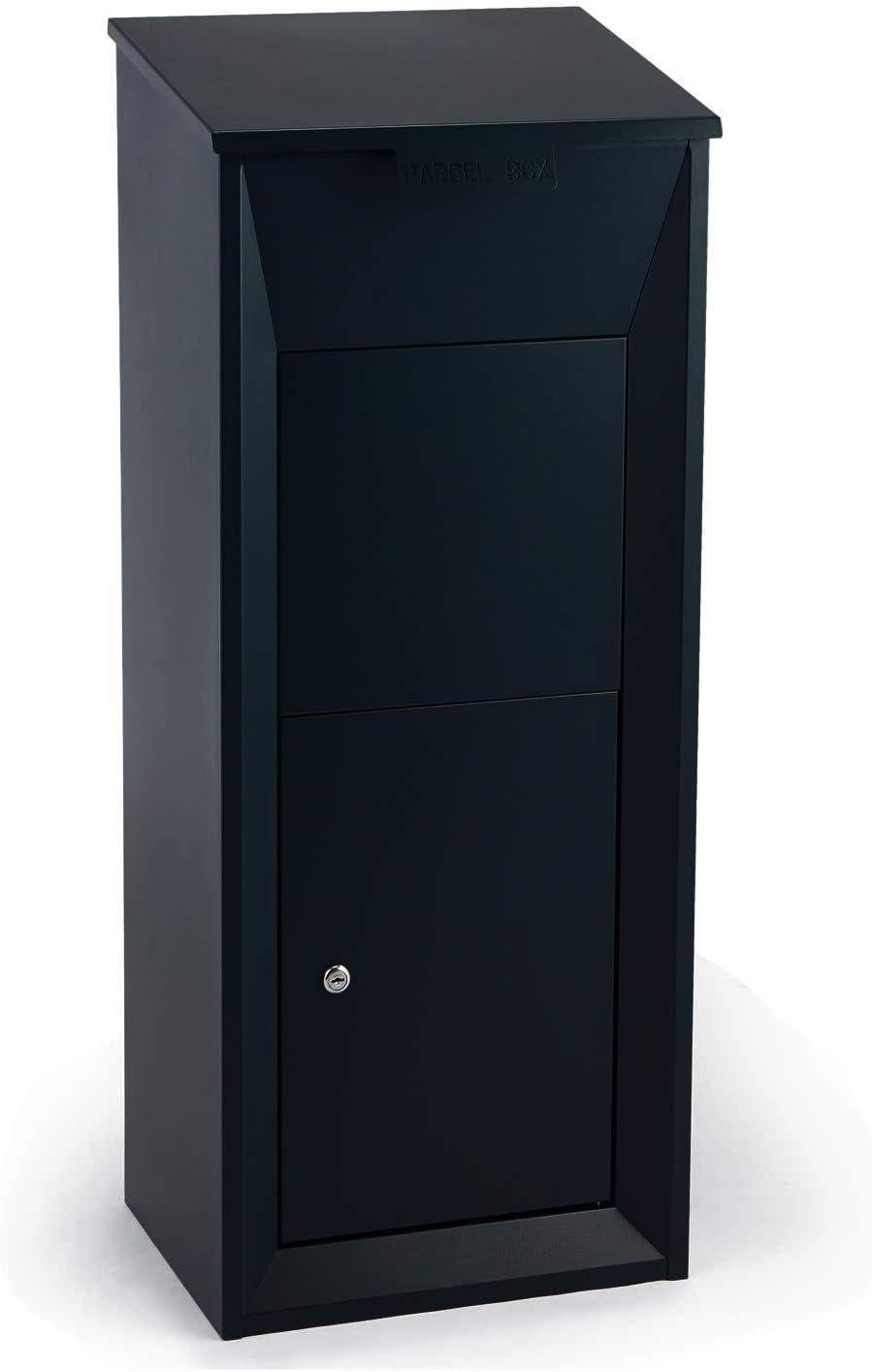 Waldbeck Postbutler Buzón de paquetería (Puerta con Cerrojo, fijación al Suelo,Exterior, para Paquetes, Cartas y Correo) - Gris Oscuro