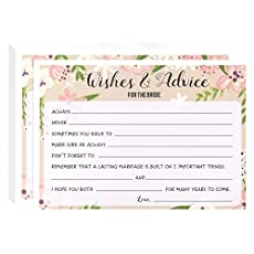 Use our wedding advice cards at your rehearsal dinner or wedding reception and let your guests respond. Perfect for any nuptial engagement! Easily allow guests to leave advice for the bride and groom in a fashionable way. A great way to gather wisdom...
