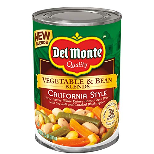 Del Monte Vegetable & Bean Blends, California Style, 14.5 Ounce