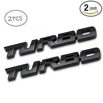 UpAuto 3D Metal TURBO Emblem Badge for JEEP BMW Dodge Toyota Honda Nissan Kia Hyundai Chevrolet