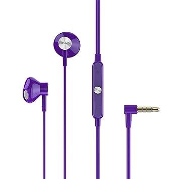 Sony STH30 - Altavoces portátiles estéreo dinámicos de 9.2 mm, púrpura: Amazon.es: Electrónica