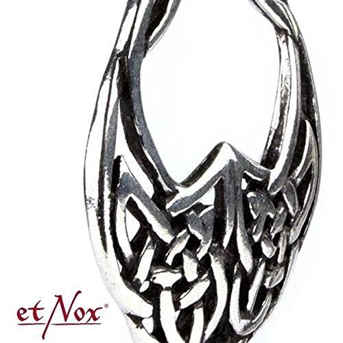 etnox by véritable–Nœud celtique–Amulette en tant que boucles d'oreilles–Argent