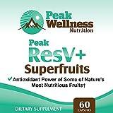 Peak ResV Superfruits - Trans Resveratrol Plus Acai Goji Noni Mangosteen amp Pomegranate Antioxidant Powerhouse Supplement 60 capsules Discount