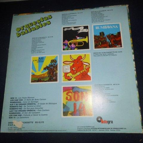 Various – Orquestas Bailables Sello: Integra – EG-13.171 Formato: Vinyl, LP, Compilation País: Venezuela Fecha: 1982 Género: Latin Estilo: Afro-Cuban, Cubano, Son, Timba by Integra