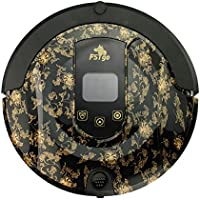 FSTgo Robot Vacuum Cleaner, FR-808 B Robotic Cleaner (Sweep, Dry Mop, Vacuum Clean, UV Sterilization,Drop-Sensing), LCD Touch Screen, Self Charging, Schedule Cleaning for Pet Hair, Dirt, Dust