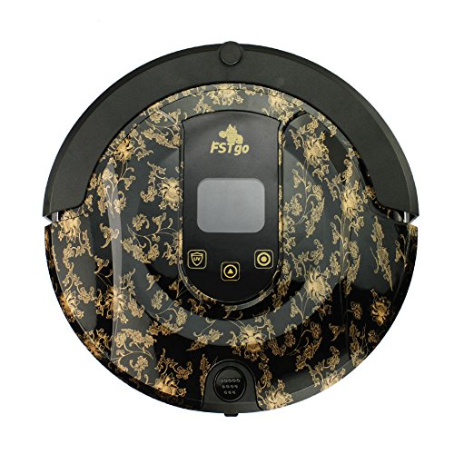 Robot Vacuum Cleaner, FSTgo FR-808 B Robotic Cleaner (Sweep, Dry Mop, Vacuum Clean, UV Sterilization,Drop-Sensing), LCD Touch Screen, Self Charging, Schedule Cleaning for Pet Hair, Dirt, Dust