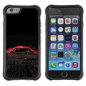 "A-type Arte & diseño Anti-Slip Shockproof TPU Fundas Cover Cubre Case para 4.7"" iPhone 6 ( Cool KITT )"