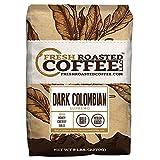 Fresh Roasted Coffee LLC, Dark Colombian Supremo Coffee, Medium-Dark Roast, Whole Bean, 5 Pound Bag