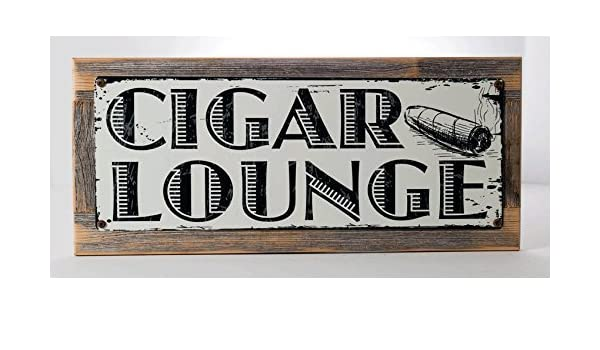 mdrqzdfh Cigar Lounge - Placa metálica Decorativa para Bar ...