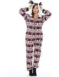 Holiday Reindeer Adult Onesie Pajamas