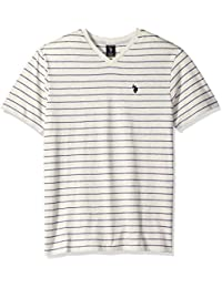 Men's Short Sleeve Striped V-Neck Classic Fit T-Shirt
