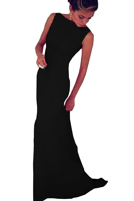 MAX MALL Damen Elegant Abendkleider ärmelloses Cocktailkeid Maxikleid