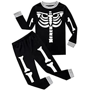 Little Boys Skeleton Pajamas Sets Pjs Sleepwears Clothes Halloween Gift