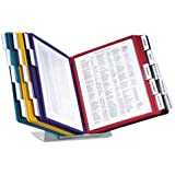 DURABLE VARIO 20-Panel Desktop Reference System, Assorted Color Borders (536100)