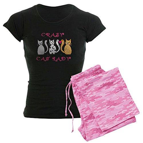 CafePress Crazy Cat Lady - Womens Novelty Cotton Pajama Set, Comfortable PJ Sleepwear Flannel Crazy Pajamas