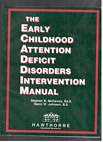 early childhood attention deficit disorders intervention manual rh amazon com early intervention manual and procedure nyc early intervention manual 2017 nyc