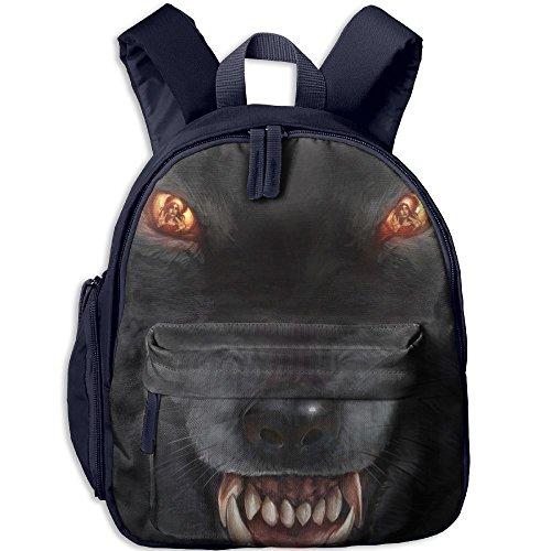 Small School Backpack Personalised Custom With Wolf Mercy For Kindergarten Unisex Kids - Angeles Street Los Oxford