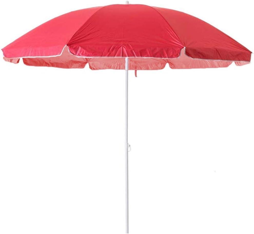 Arcoiris Sombrilla Playa, Parasol de Aluminio Protección Solar UPF+50 (160cm, Rojo)