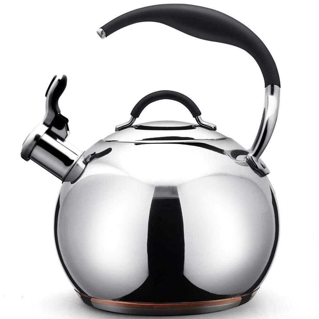 LEOO 最もよいティーポットの口笛のステンレス鋼のストーブの上のティーポットの茶やかんのポットのコンロ   B07PT7B36T