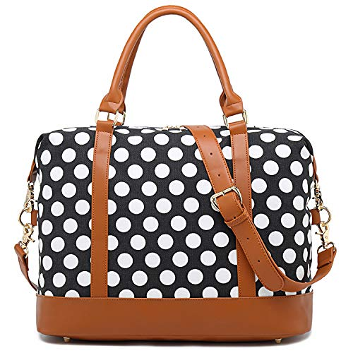 Women Weekender Bag Carry on Travel Duffle Tote in Trolley Handle