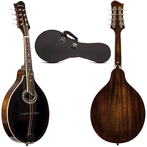 Eastman MD404 A-Style Oval Hole Black-Top Mandolin with Hard Case by Eastman