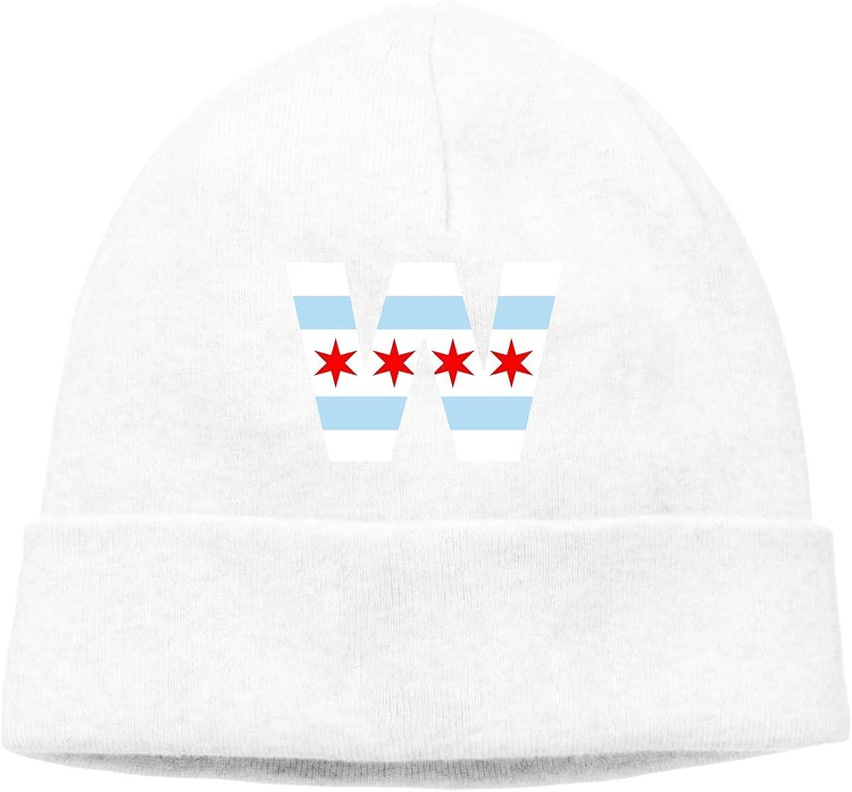 Beanie Hat Chicago Flag Winner Warm Skull Caps for Men and Women