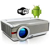 Video Projector Wifi, 4200 Lumens Home Theater 5.8 LCD TFT Display, LED Android HDMI USB Support HD 1080P 720P, for TV DVD XBOX Blu Ray, Home Entertainment Presentation Movie Video Games Outdoors