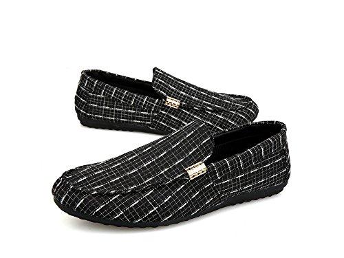 Caoutchouc 43 Chaussures 41 Coutures Couleur Semelles en Classique Coudre à Flats à CN Toile Taille Super en noir 44 Hommes 39 Mocassins G Kaki 40 Element Gris MDFY 42 Bleu Soft 6znapFfqwg