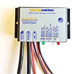 WindyNation Waterproof 10A 12V Solar Charge Controller w/ LED Charging and Load Indicators