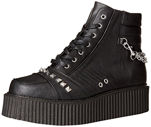 Demonia Black Vegan Sneaker CREEPER 565 Leather V Men's rqYX1r