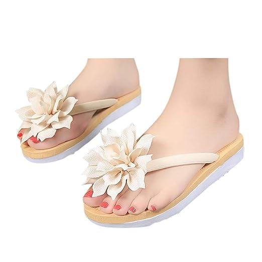 86c9305821886 Amazon.com: Veodhekai Women Flip Flops Slipper Flower Flats Sandals ...