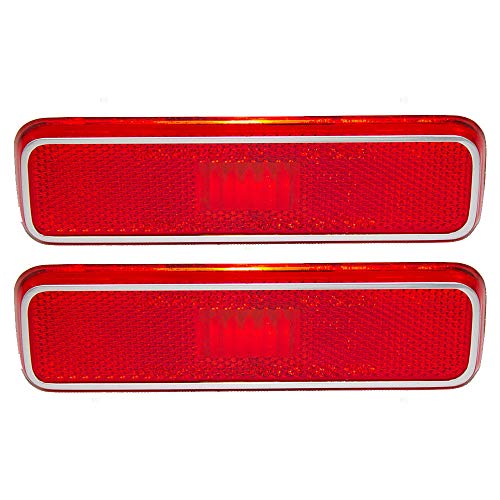 OE Replacement NEW Rear Side Marker Light Lens Lamp Housing Pair of 2 Red RH=LH Direct Replacement for Dodge Plymouth (Partslink number -