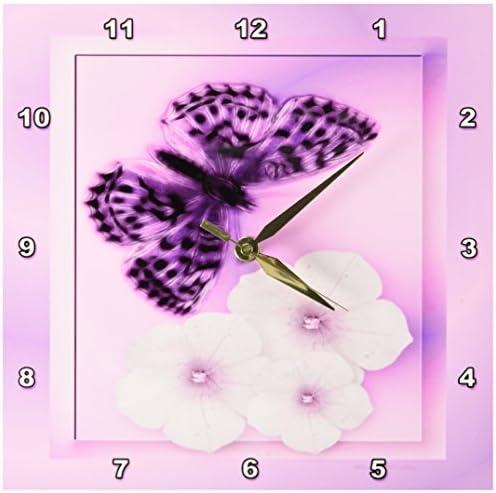 3dRose SmudgeArt Fritillary Butterfly D Wall Clock, 10 by 10-Inch