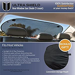 Rear Window Sunshade (1 Rear Shade) - Baby Car Window Shade blocks sun & glare