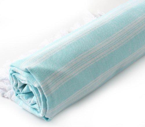 Cacala PES-SAR-Aquamarine Bath Towels, 37