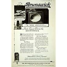 1919 Ad Vintage Brunswick Phonograph Ultona Tone Amplifier Record Player Cabinet - Original Print Ad